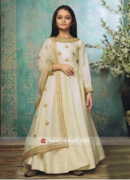 Girls Floor Length Anarkali Suit with Dupatta