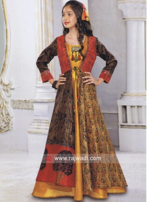 Girls Full Length Jacket Style Gown