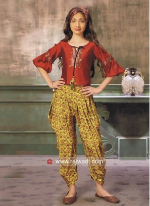 Girls Indo Western Dhoti Suit