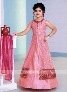 Girls Indo-Western Style Choli Suit