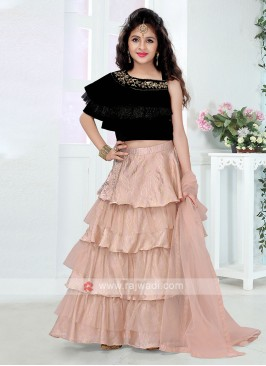 Girls Layered Lehenga Choli