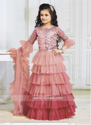 Girls Multi Layer Designer Choli Suit