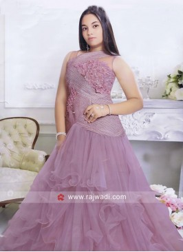 Girls Multi Layered Net Gown