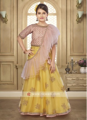 Girls net lehenga choli