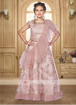 Girls Onion Pink Lehenga Choli