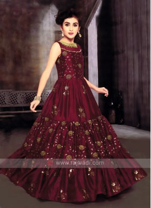 Girls Party Wear Gown