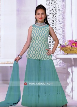 Girls Party Wear Palazzo Suit with Dupatta