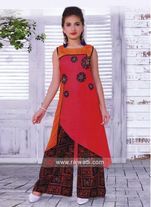 Girls Patch Work Palazzo Salwar Kameez