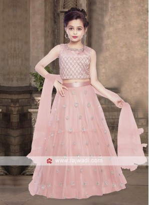 Girls pink color lehenga choli