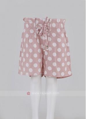 Girls Polka Dots Cotton Shorts