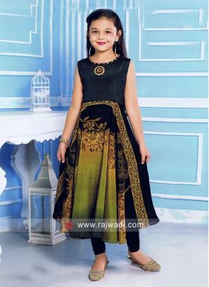 Girls Printed Anarkali Suit