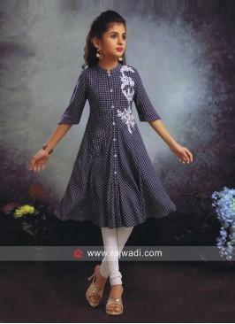Girls Printed Kurta with Leggings