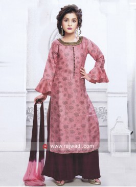 Girls Printed Palazzo Suit with Dupatta