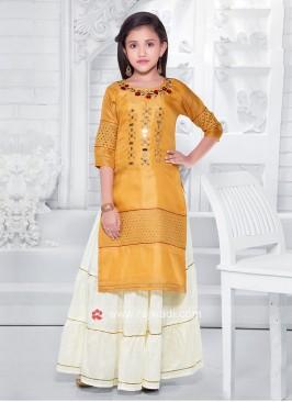 Girls Salwar Suit In Yellow