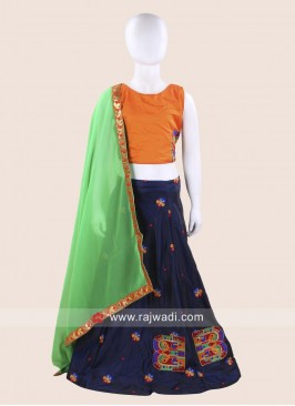 Girls Satin Silk Chaniya Choli