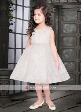 Girls Short Gown in White