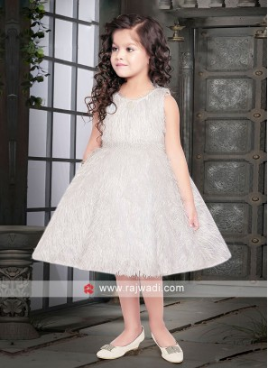 Girls Short Gown in White