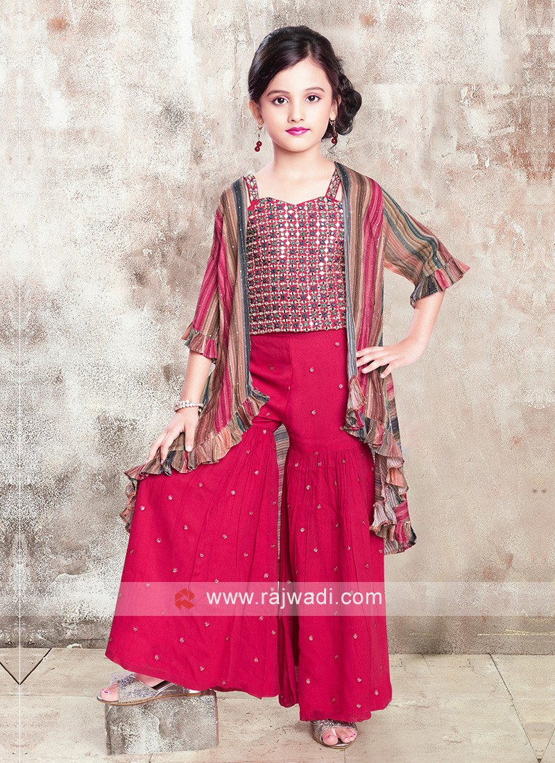 Girls Shrug Style Gharara Suit