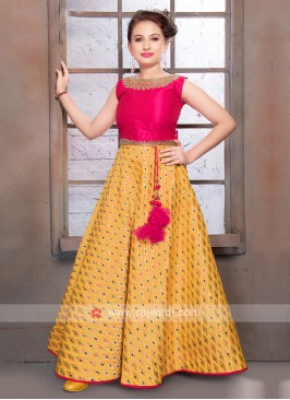 Girls Silk Choli Suit