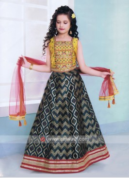 Girls Silk Lehenga Choli