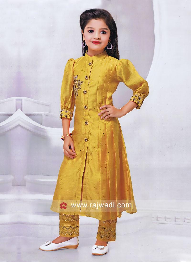 Girls Silk Salwar Kameez