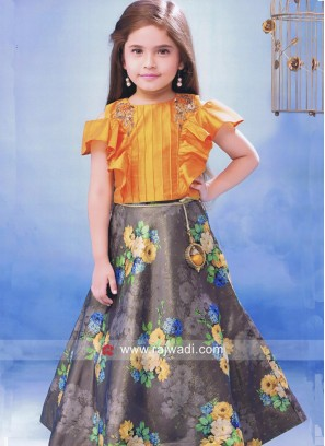 Girls Silk Wedding Choli Suit