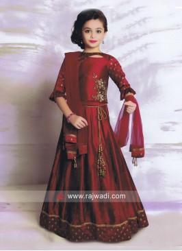 Girls Silk Wedding Lehenga Choli