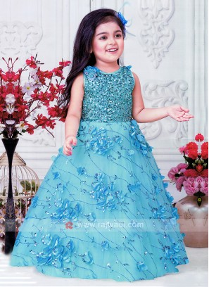 Girls Sky Blue Gown
