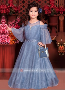 Girls Stylish Net Gown