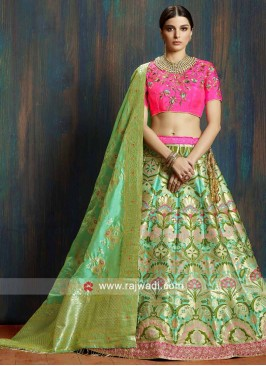 Giselli Monteiro Brocade and Raw Silk Weaved Lehenga