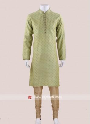 Glamorous Pista Green Kurta Pajama