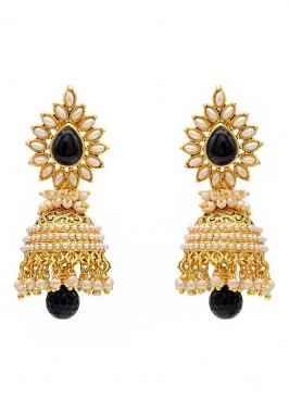 Glamour Pearl Brass Jhumki Earrings