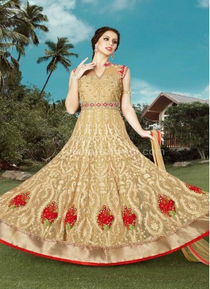 Glorious  Crepe Silk Semi Stitched Suits