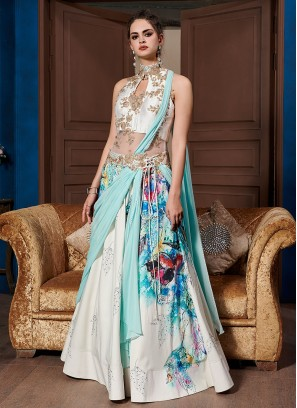 Glorious Embroidered Fancy Fabric Designer Gown