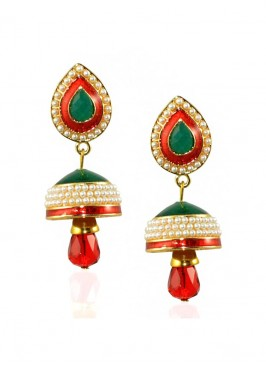 Glowing Pearl Jhumki Earrings