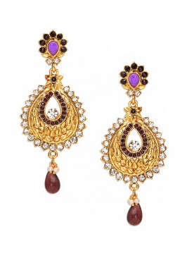 Glowing Zinc Alloy Drop Earrings