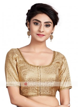 Gold Brocade Ready Blouse