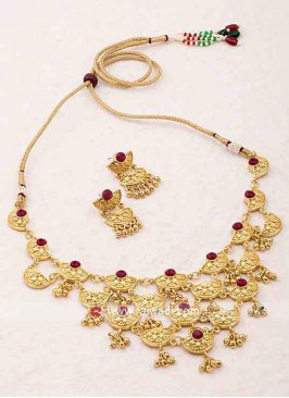 Gold Plated Bridal Wedding Necklace Set