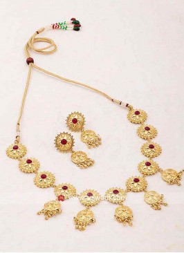 Gold Plated Copper Nacklace Set