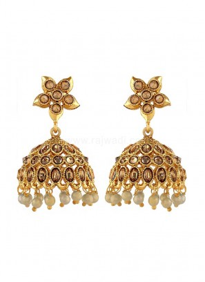 Gold Plated Jhumki Earrings