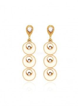 Gold Plated Layered Dangler Earrings