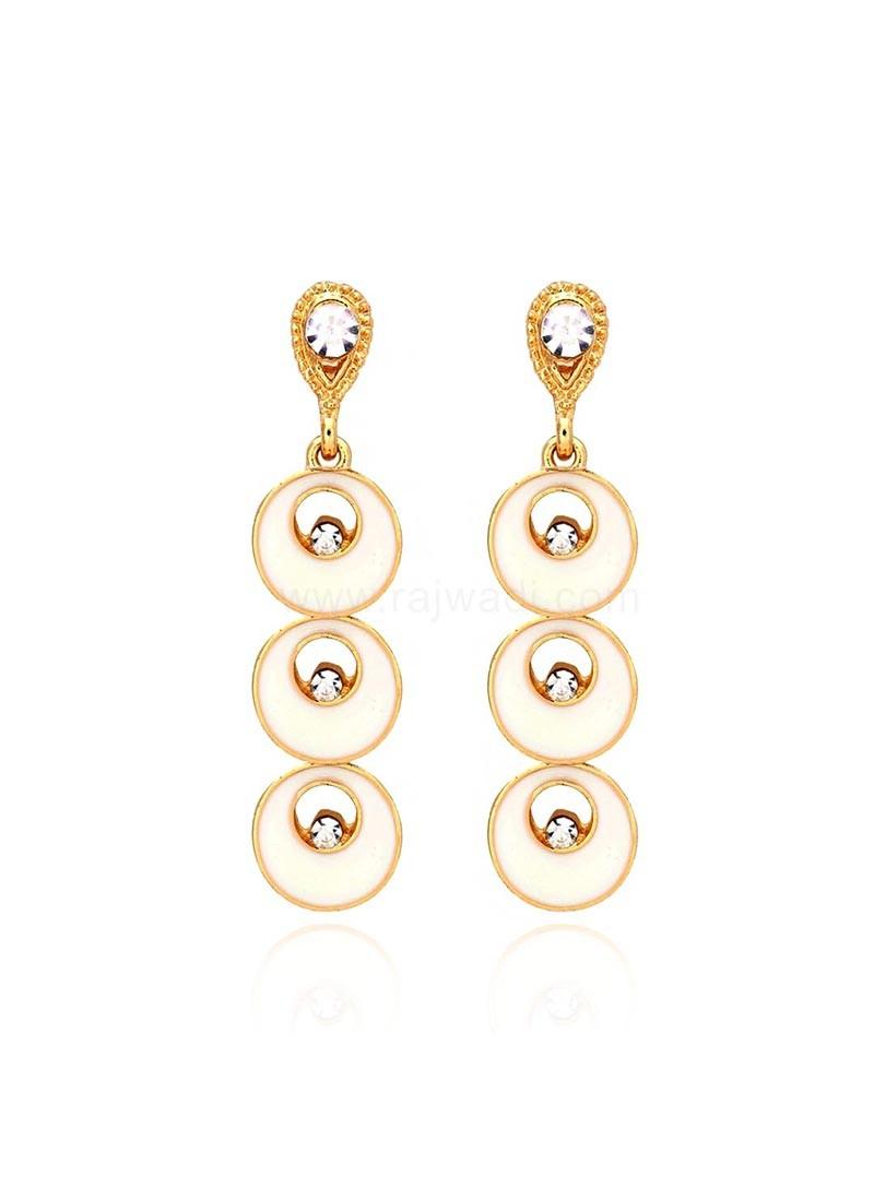 Gold Plated Layered Dangler Earrings