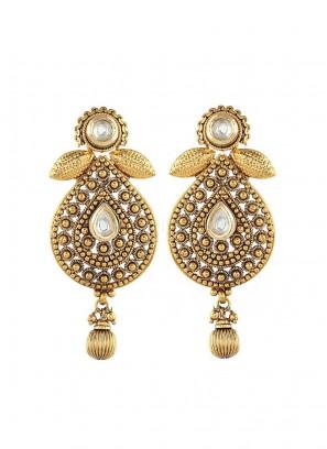 Gold Plated Push Back Drop Earrings