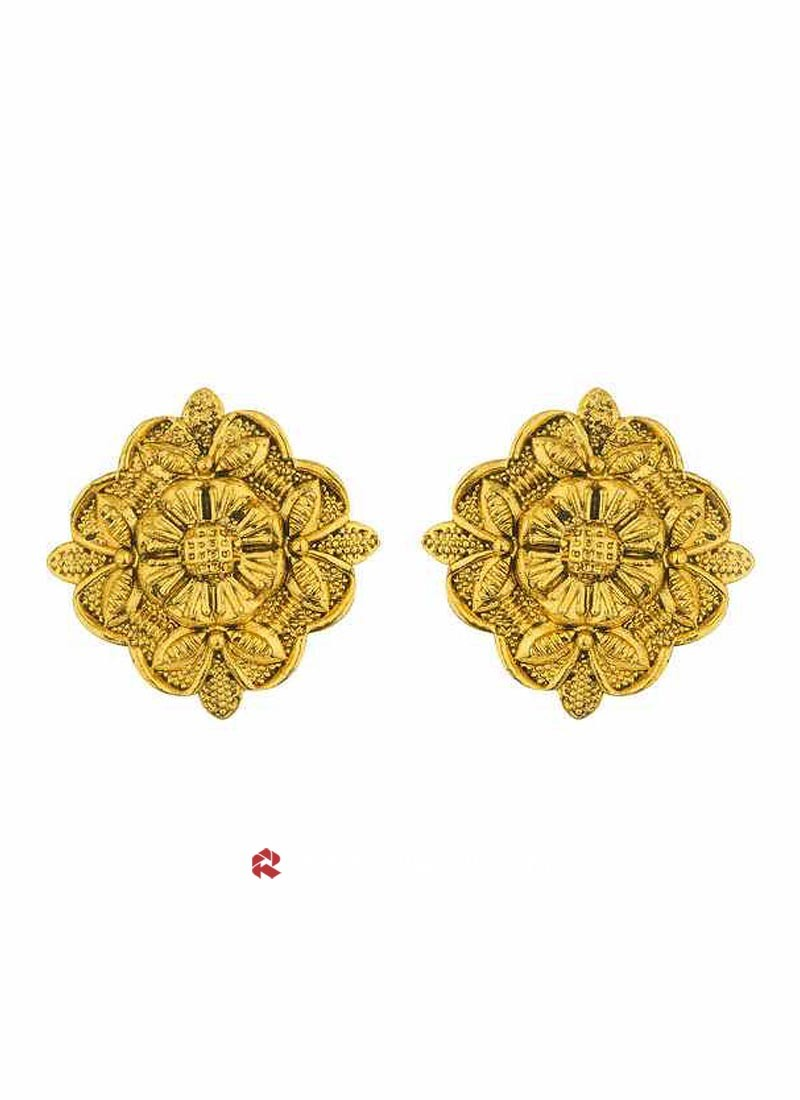 Gold Plated Studded Earrings