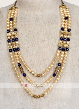 Golden And Blue Groom Mala