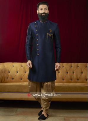 Stylish Navy Color Patiala Suit