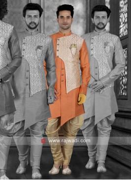 Attractive Orange Color Indo Western