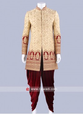 Golden and Cream Sherwani