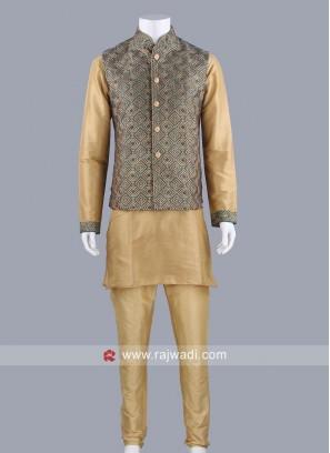 Golden and Green Color Modi Koti