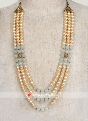 Golden And Grey Pearl Mala For Wedding